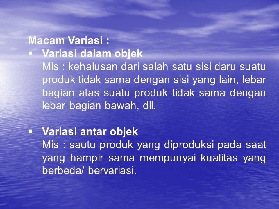 Macam Variasi : Variasi dalam objek.