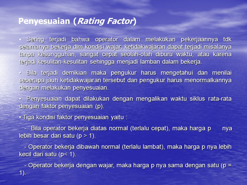 Penyesuaian (Rating Factor)