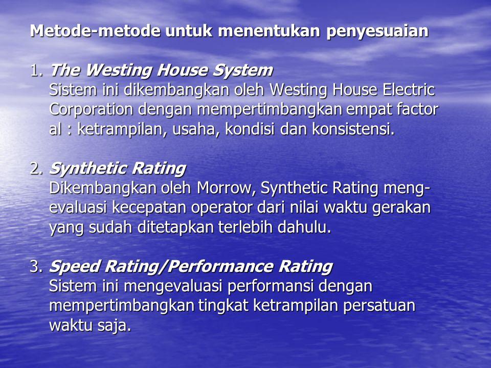 Metode-metode untuk menentukan penyesuaian 1. The Westing House System