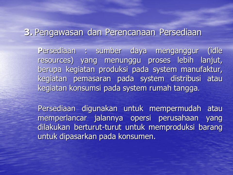3. Pengawasan dan Perencanaan Persediaan