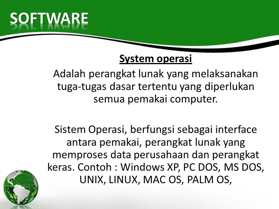 SOFTWARE System operasi