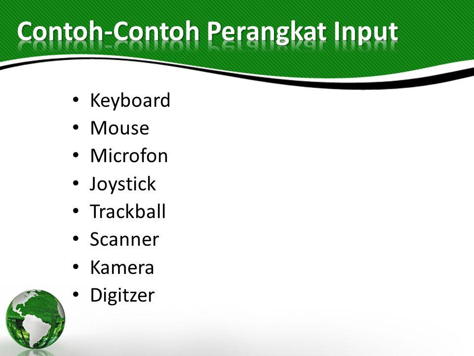 Contoh-Contoh Perangkat Input