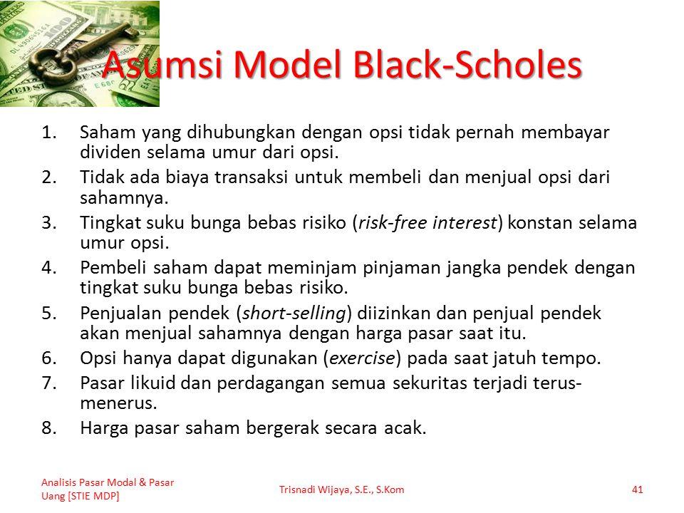 Asumsi Model Black-Scholes