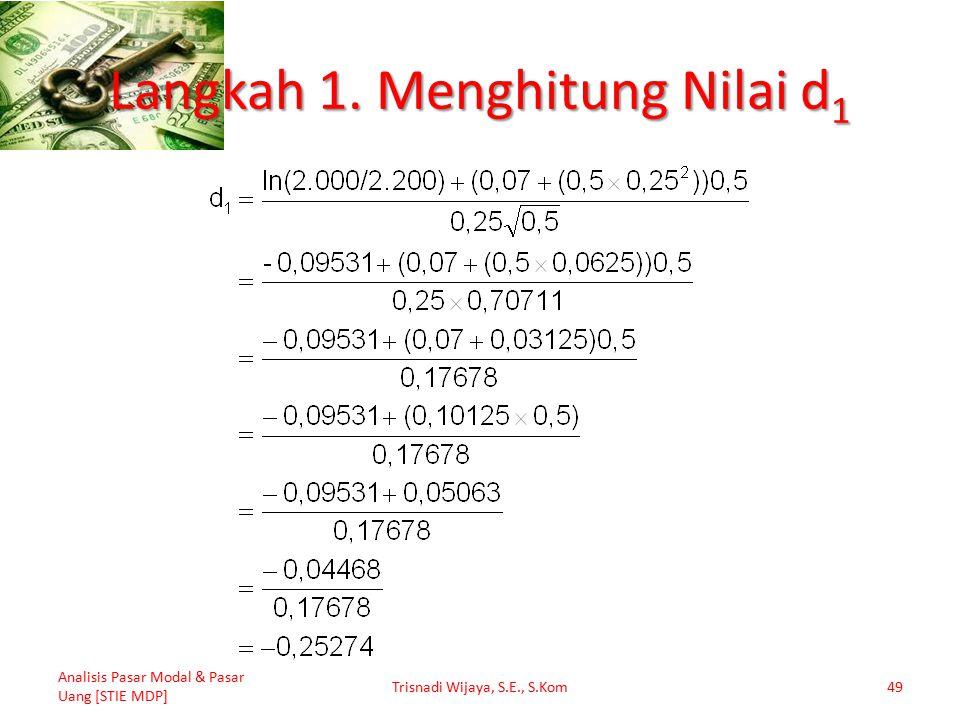 Langkah 1. Menghitung Nilai d1