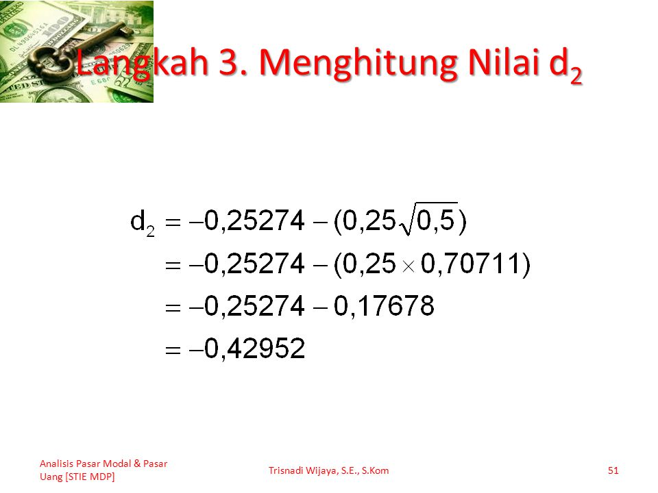 Langkah 3. Menghitung Nilai d2