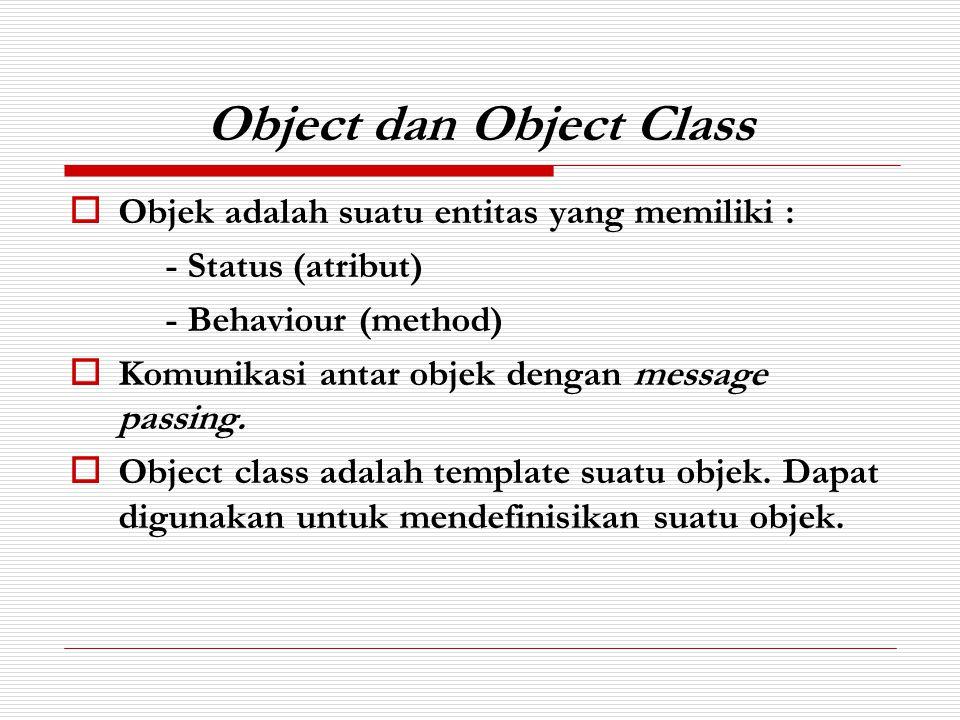 Object dan Object Class