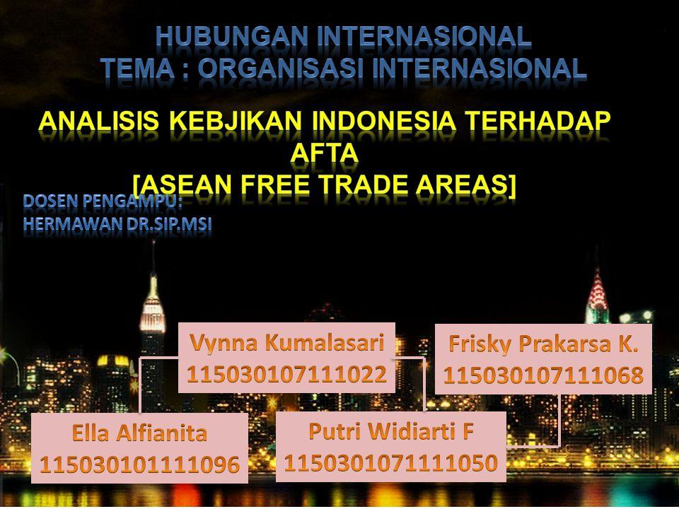 Hubungan internasional Tema : Organisasi internasional