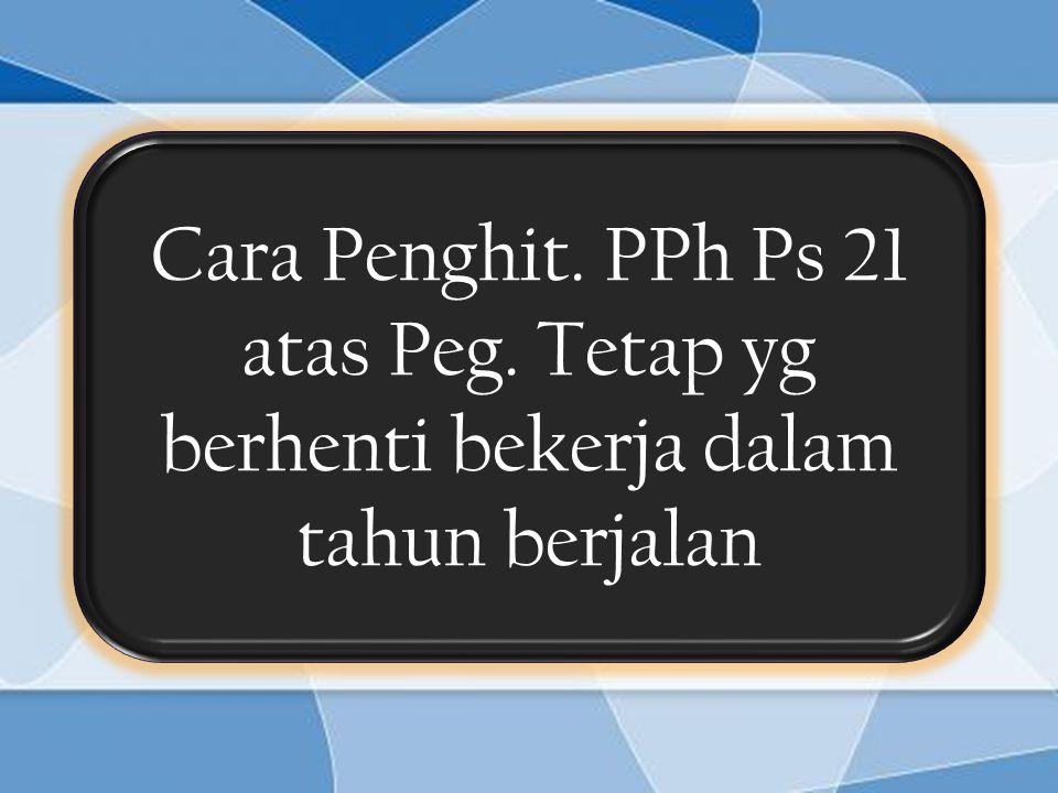 Cara Penghit. PPh Ps 21 atas Peg