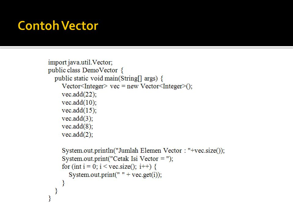 Contoh Vector