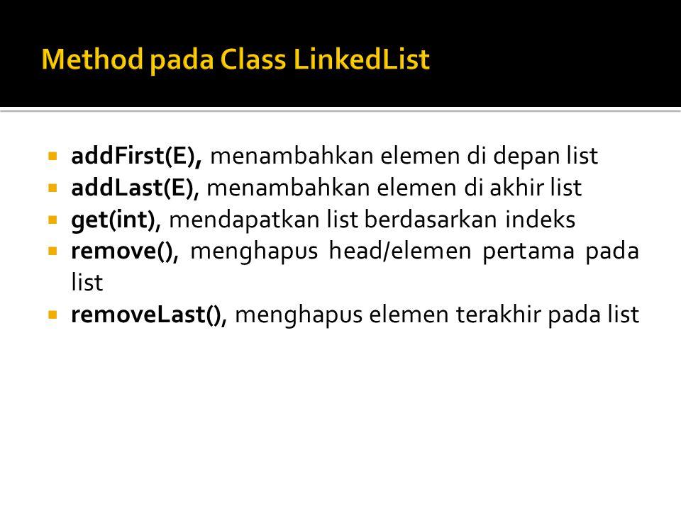 Method pada Class LinkedList
