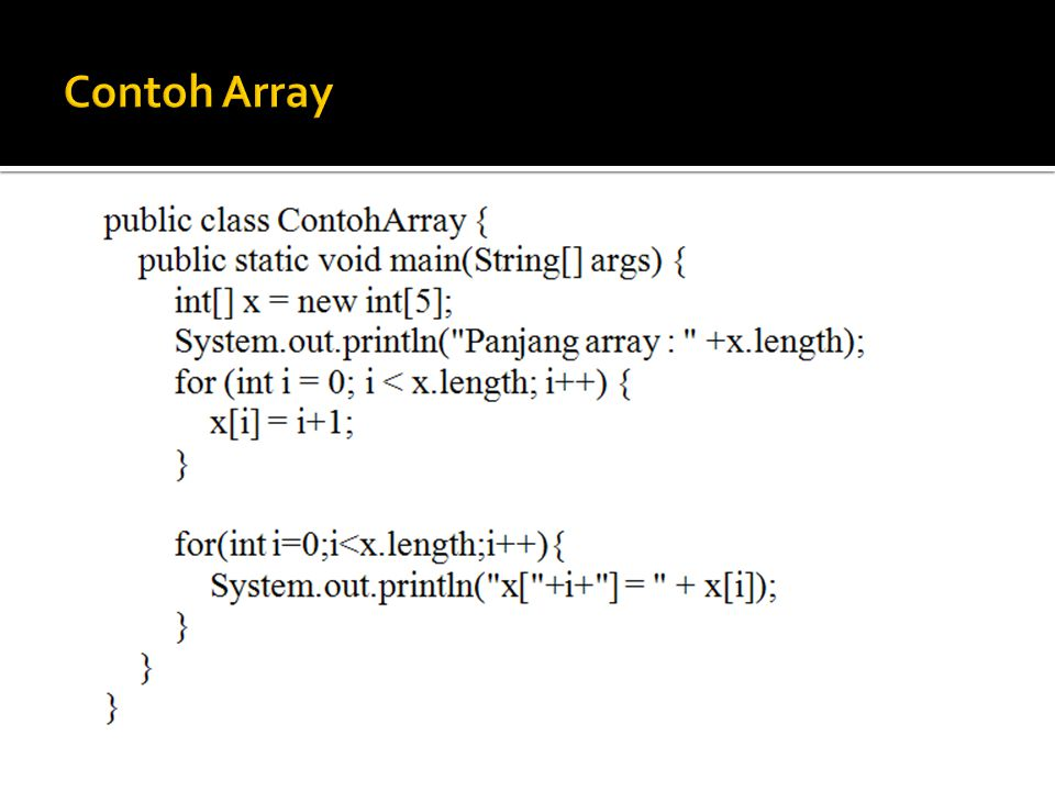 Contoh Array