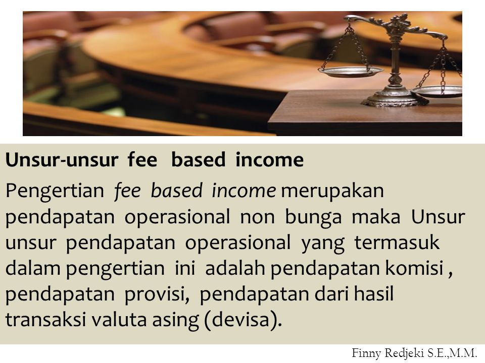 Unsur-unsur fee based income