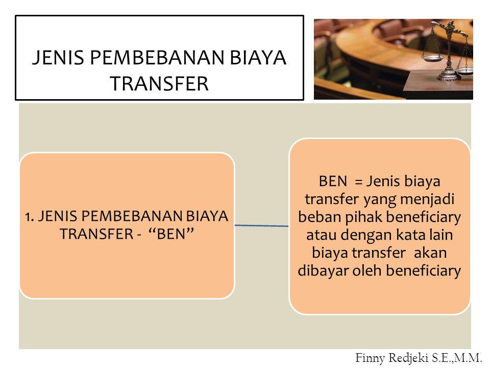 JENIS PEMBEBANAN BIAYA TRANSFER
