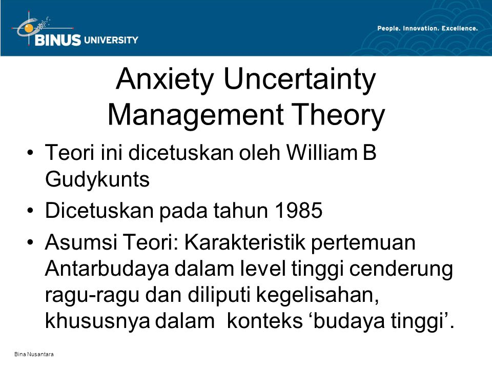 Anxiety Uncertainty Management Theory
