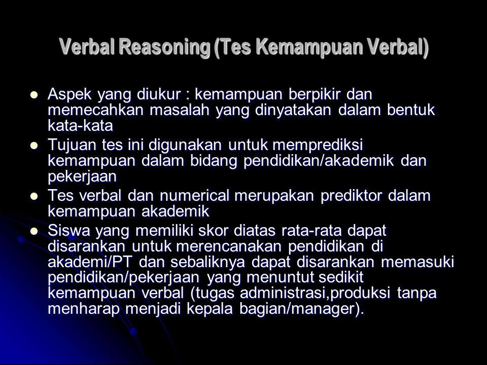 Verbal Reasoning (Tes Kemampuan Verbal)