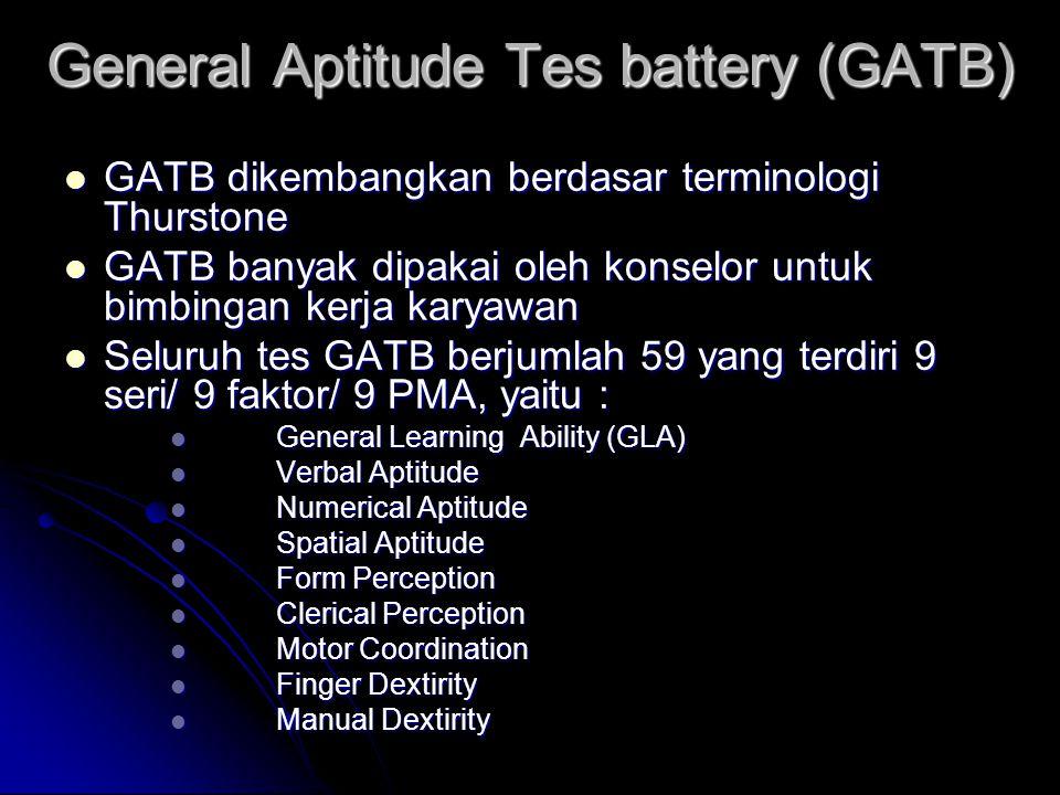 General Aptitude Tes battery (GATB)