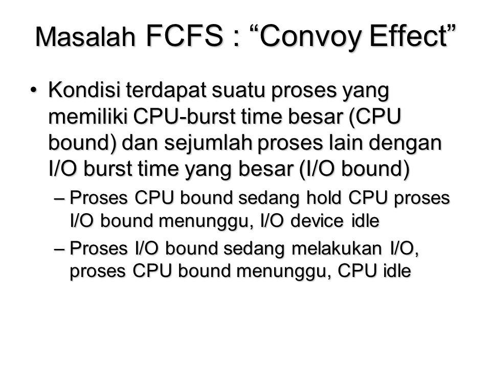Masalah FCFS : Convoy Effect
