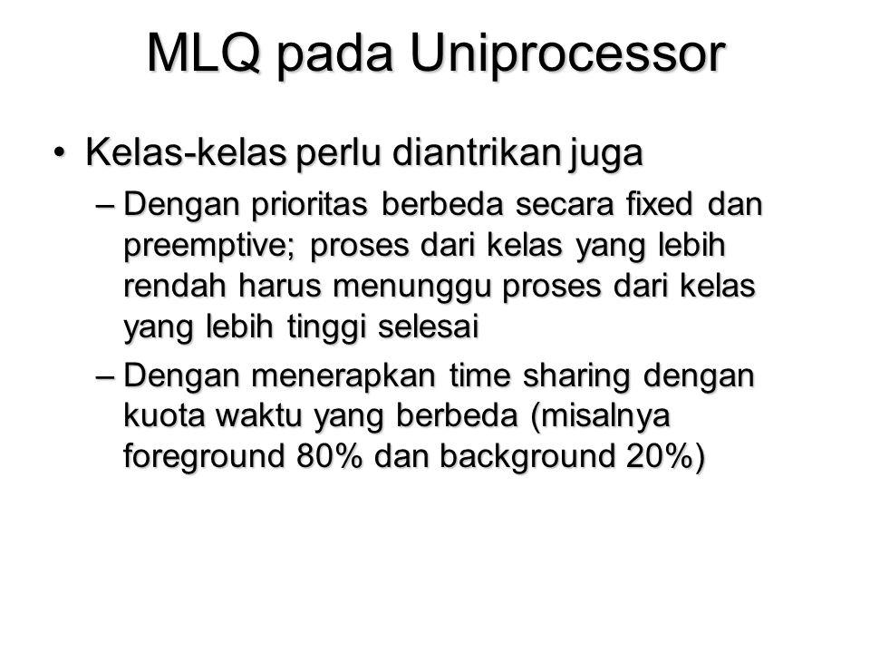 MLQ pada Uniprocessor Kelas-kelas perlu diantrikan juga
