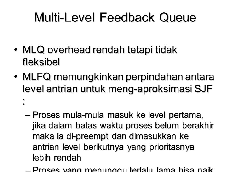 Multi-Level Feedback Queue