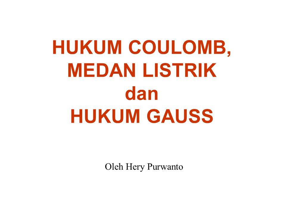 HUKUM COULOMB, MEDAN LISTRIK dan HUKUM GAUSS