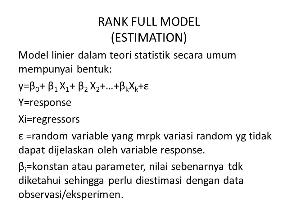 RANK FULL MODEL (ESTIMATION)