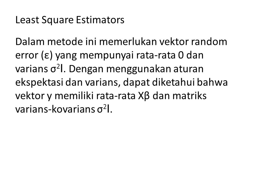 Least Square Estimators