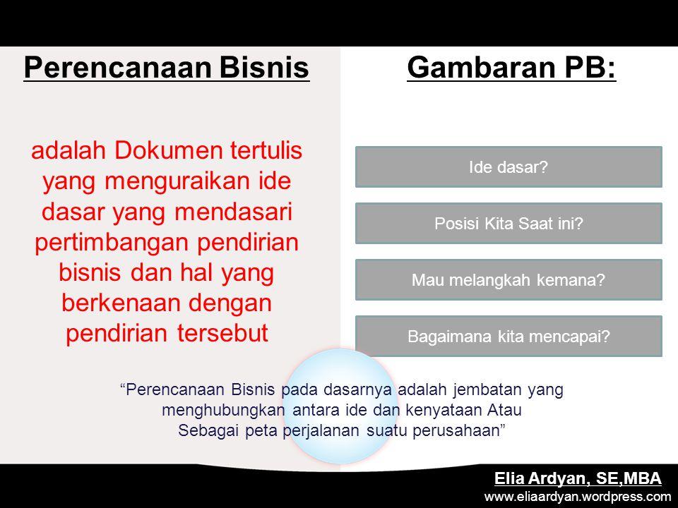 Perencanaan Bisnis Gambaran PB: