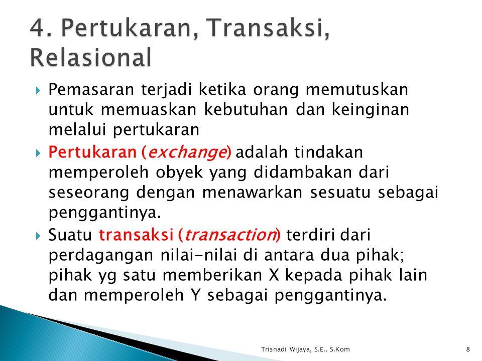 4. Pertukaran, Transaksi, Relasional