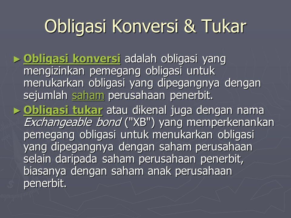 Obligasi Konversi & Tukar