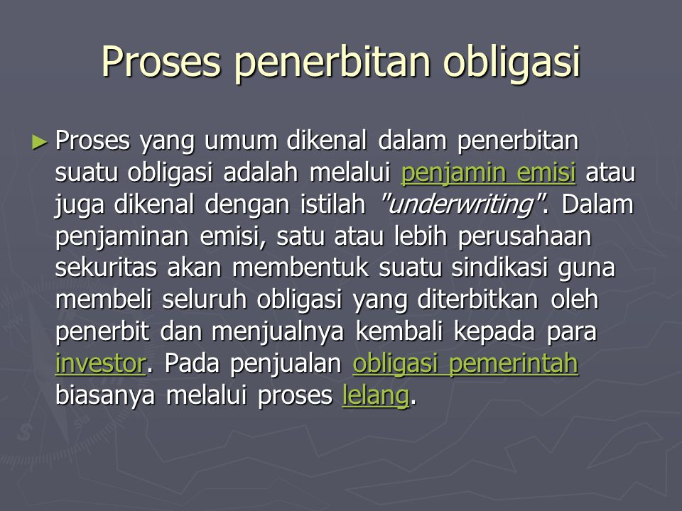 Proses penerbitan obligasi