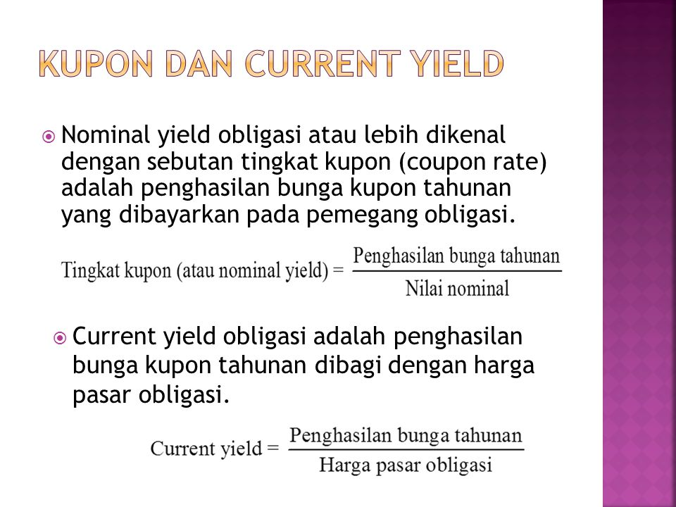 KUPON DAN CURRENT YIELD