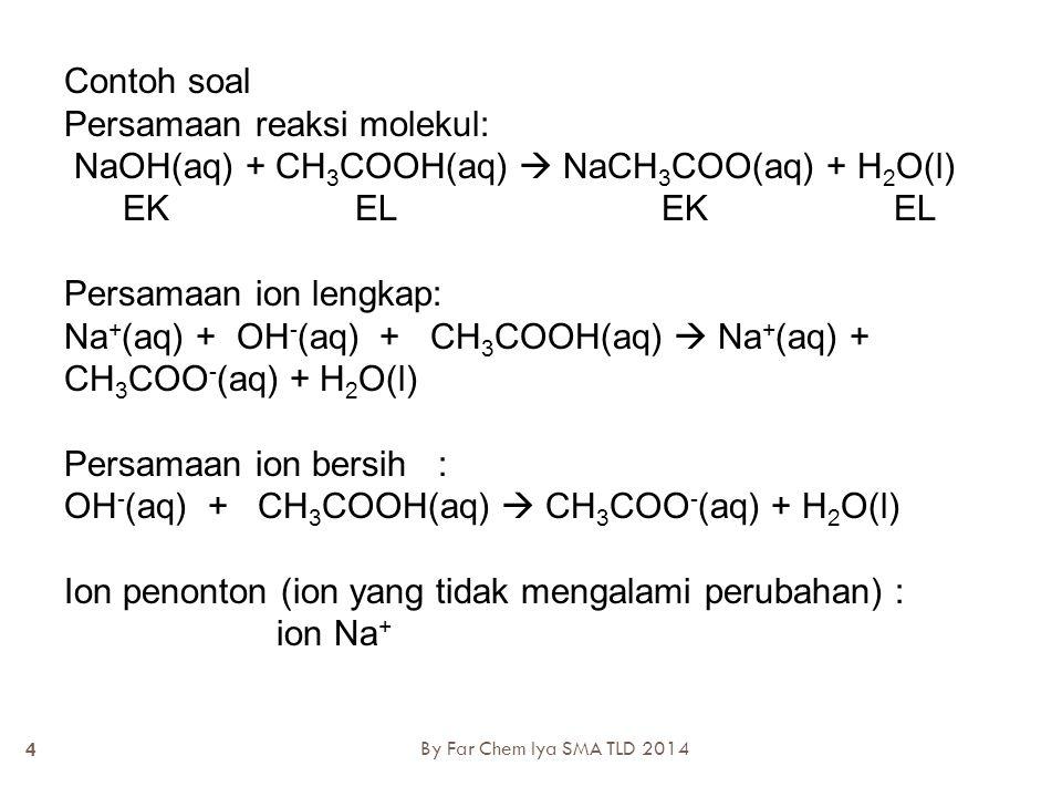 Persamaan reaksi molekul: