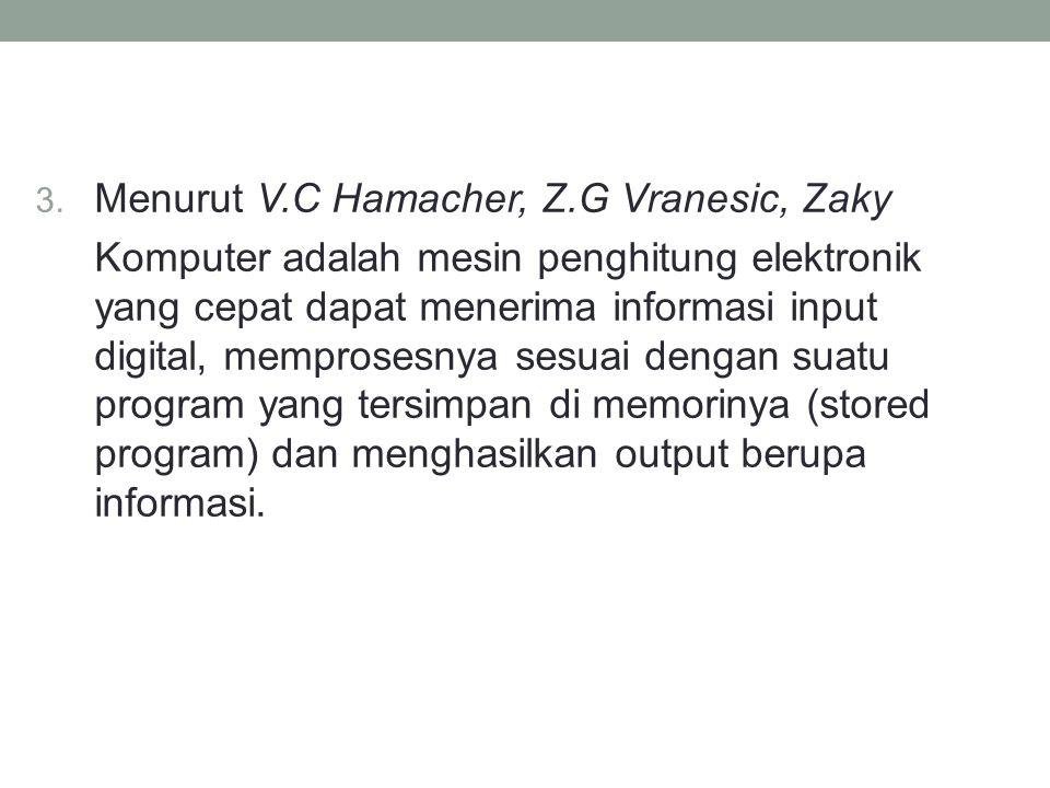 Menurut V.C Hamacher, Z.G Vranesic, Zaky