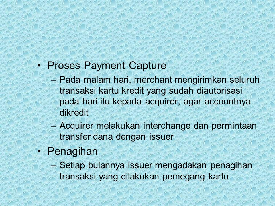 Proses Payment Capture