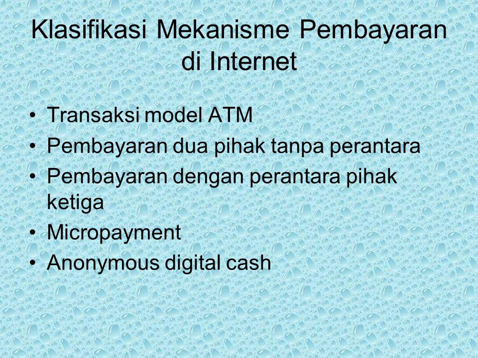 Klasifikasi Mekanisme Pembayaran di Internet