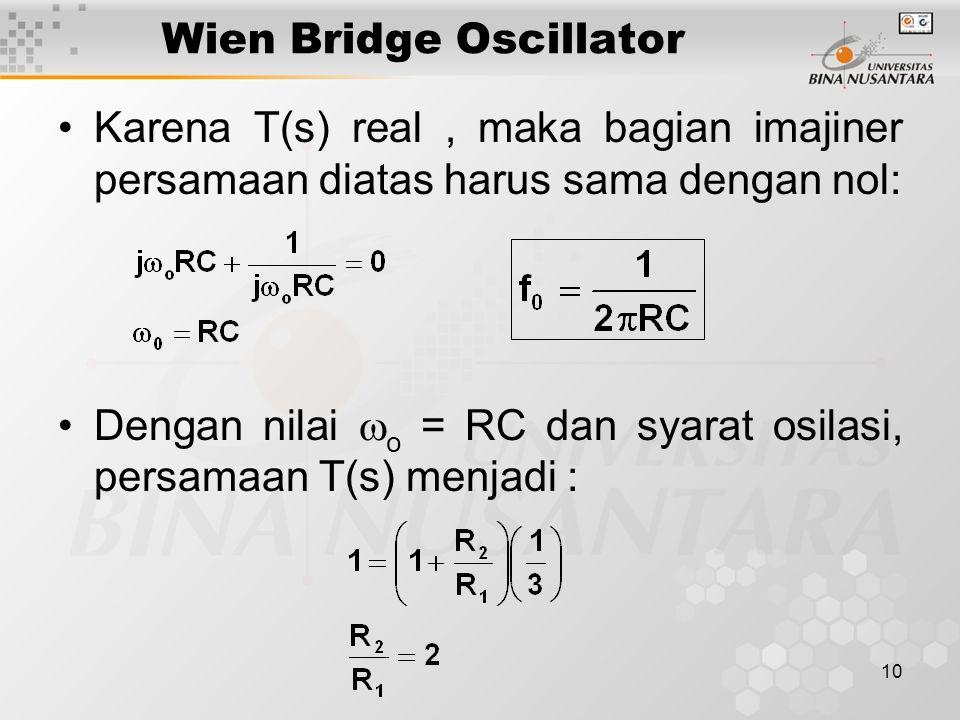 Wien Bridge Oscillator