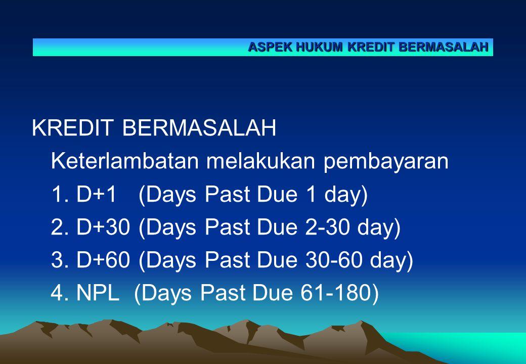 Keterlambatan melakukan pembayaran 1. D+1 (Days Past Due 1 day)