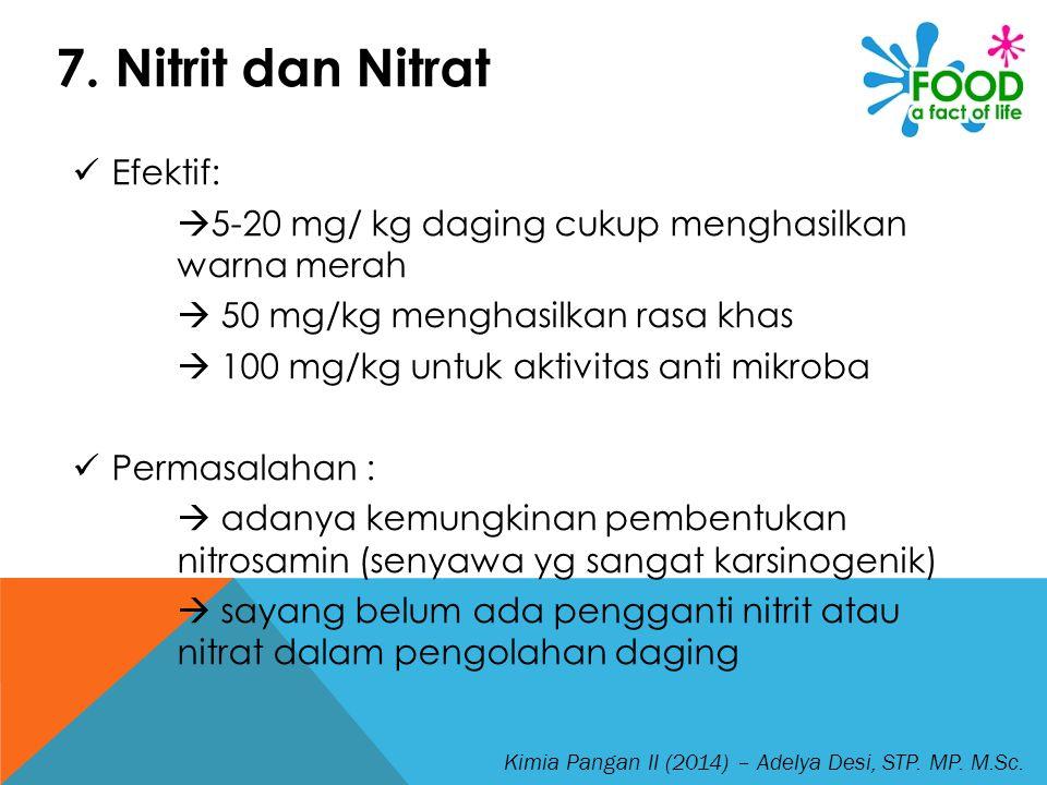 7. Nitrit dan Nitrat Efektif: