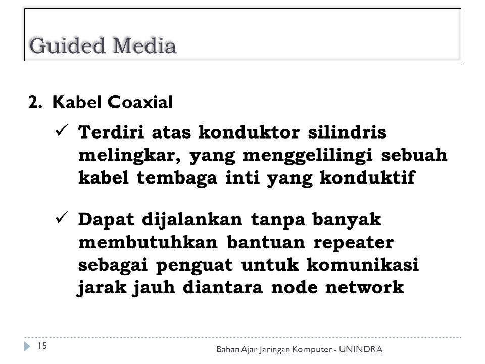 Guided Media 2. Kabel Coaxial