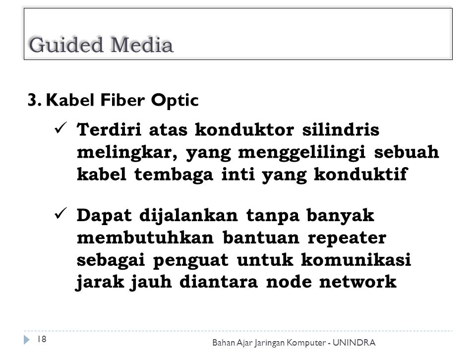 Guided Media 3. Kabel Fiber Optic