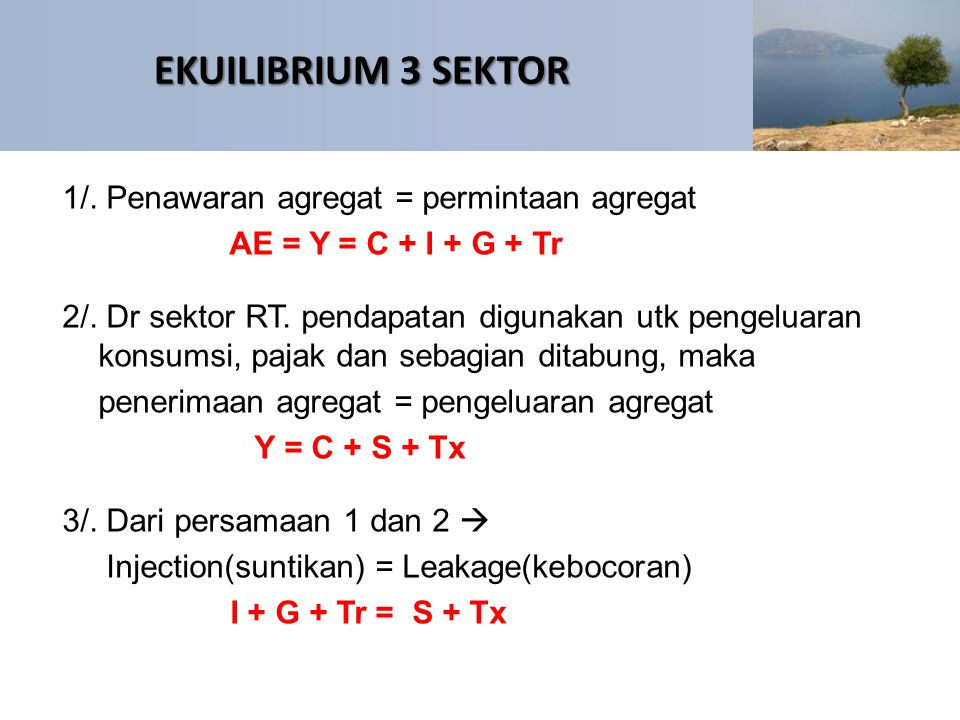 EKUILIBRIUM 3 SEKTOR