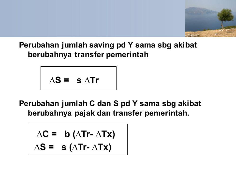 ∆S = s ∆Tr ∆C = b (∆Tr- ∆Tx) ∆S = s (∆Tr- ∆Tx)