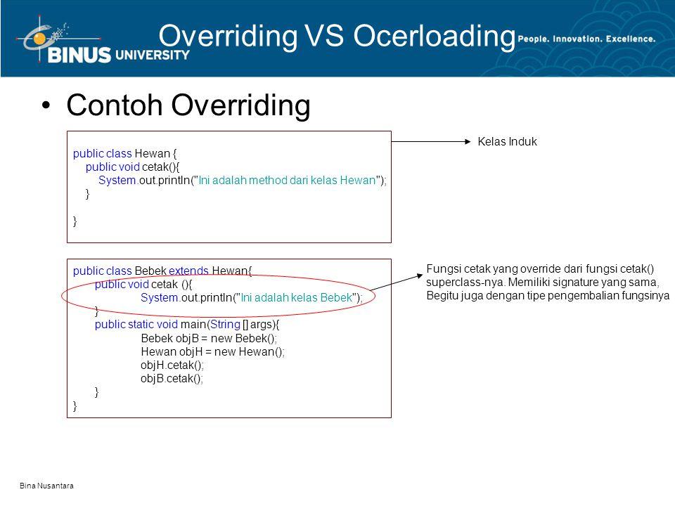 Overriding VS Ocerloading