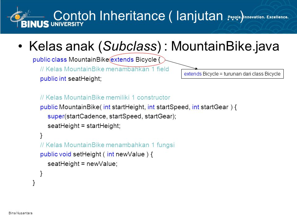 Contoh Inheritance ( lanjutan …)