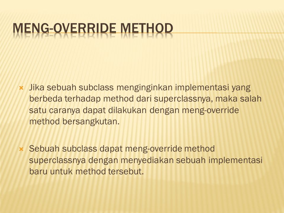 Meng-override method
