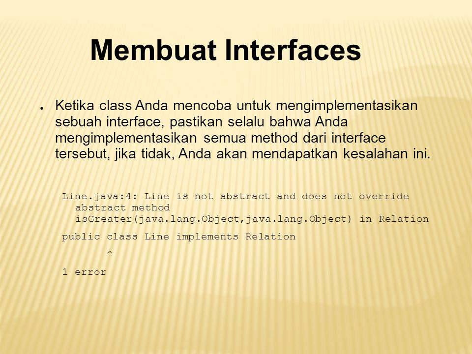 Membuat Interfaces