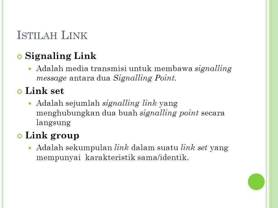 Istilah Link Signaling Link Link set Link group