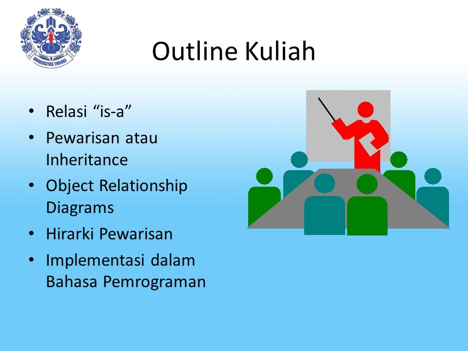 Outline Kuliah Relasi is-a Pewarisan atau Inheritance