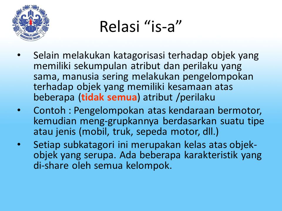 Relasi is-a