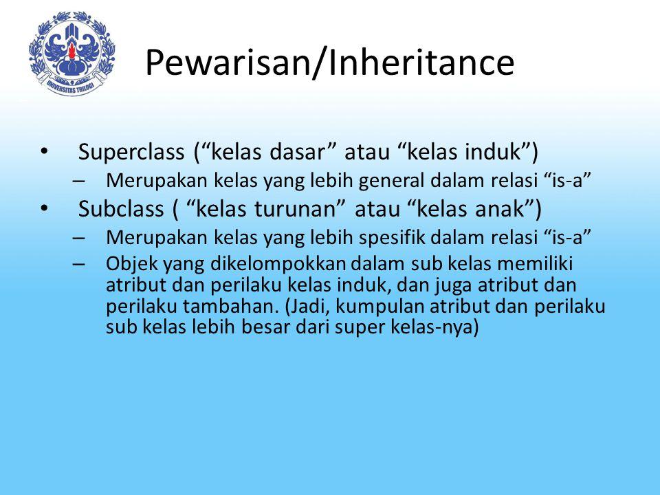Pewarisan/Inheritance